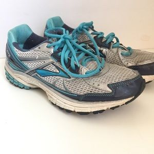 Brooks Adrenaline GTS 13 Gray Teal Running Shoes